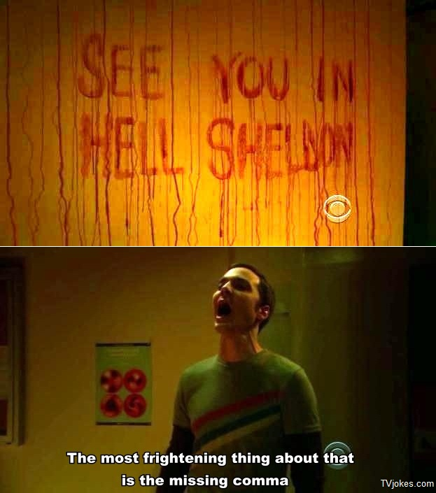Sheldon missing comma